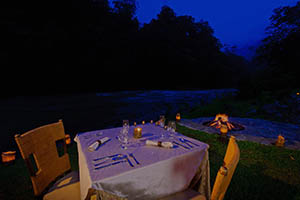 Romantic Dining at Pacuare Lodge